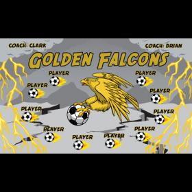 Falcons Golden Vinyl Soccer Banner - E-Z Order