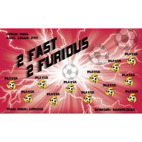 Fast 2 Furious Vinyl Soccer Banner - E-Z Order