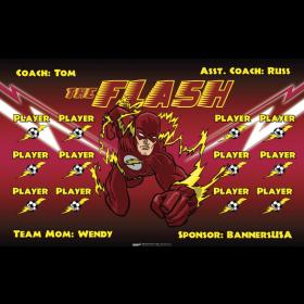 Flash Fabric Soccer Banner - E-Z Order