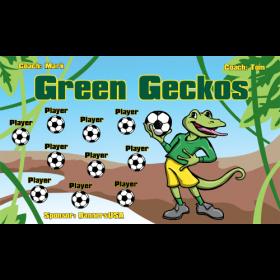 Geckos Green Vinyl Soccer Banner - E-Z Order