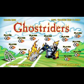Ghostriders Vinyl Soccer Banner E-Z Order