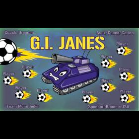 GI Janes Fabric Soccer Banner E-Z Order