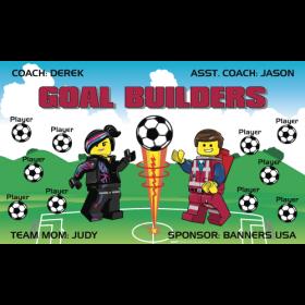Goal Builders Vinyl Soccer Banner E-Z Order