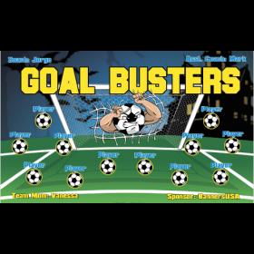 Goal Busters Vinyl Soccer Banner - E-Z Order