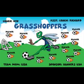 Grasshoppers Vinyl Soccer Banner - E-Z Order