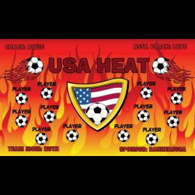 Heat USA Vinyl Soccer Banner - E-Z Order