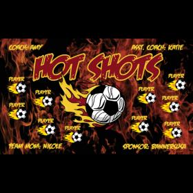 Hot Shots Vinyl Soccer Banner E-Z Order
