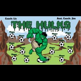 Hulks Fabric Soccer Banner - E-Z Order