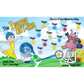 Inside Out-ers Vinyl Soccer Banner E-Z Order