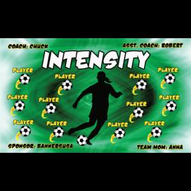 Intensity Vinyl Soccer Banner - E-Z Order