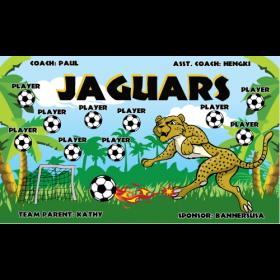 Jaguars Fabric Soccer Banner - E-Z Order