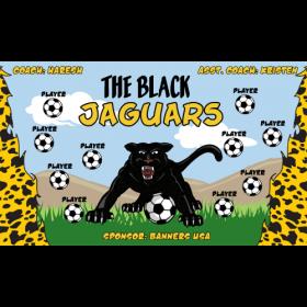 Jaguars Black Vinyl Soccer Banner - E-Z Order