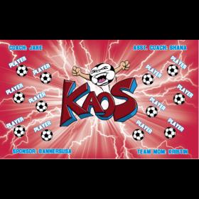 Kaos Fabric Soccer Banner - E-Z Order