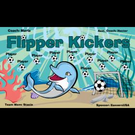 Kickers Flipper Vinyl Soccer Banner - E-Z Order