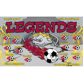 Legends Vinyl Soccer Banner - E-Z Order
