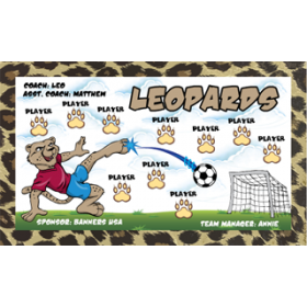 Leopards Fabric Soccer Banner - E-Z Order