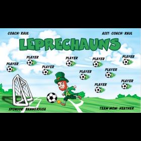Leprechauns Vinyl Soccer Banner - E-Z Order
