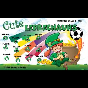 Leprechauns Cute Vinyl Soccer Banner - E-Z Order