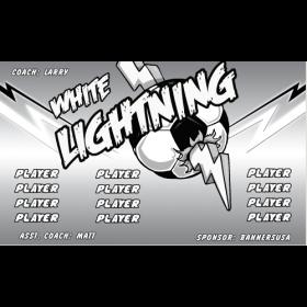 Lightning Vinyl Soccer Banner E-Z Order