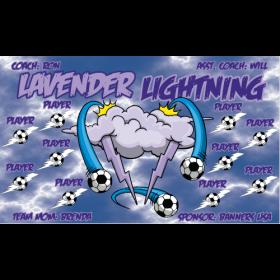 Lightning Lavender Vinyl Soccer Banner - E-Z Order