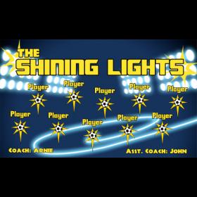 Lights Shining Vinyl Soccer Banner - E-Z Order
