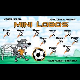 Lobos Mini Vinyl Soccer Banner - E-Z Order