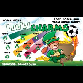 Lucky Charms Vinyl Soccer Banner - E-Z Order