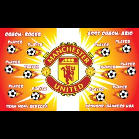 Manchester United Fabric Soccer Banner - E-Z Order