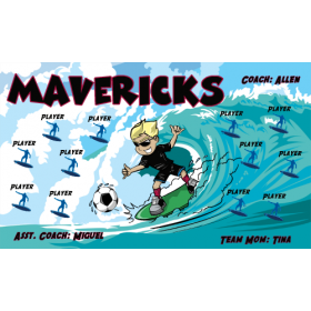 Mavericks Vinyl Soccer Banner - E-Z Order