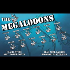 Megalodons Vinyl Soccer Banner - E-Z Order