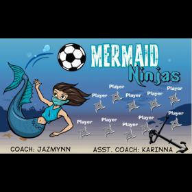 Mermaid Ninjas Vinyl Soccer Banner - E-Z Order