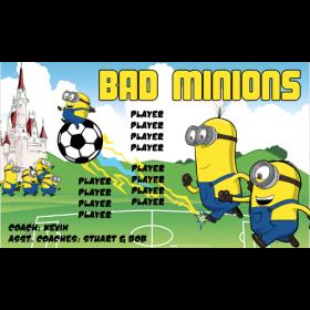 Minions Bad Vinyl Soccer Banner E-Z Order