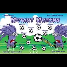 Minions Mutant Vinyl Soccer Banner - E-Z Order