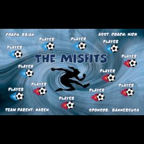 Misfits Vinyl Soccer Banner - E-Z Order