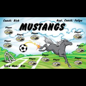 Mustangs Fabric Soccer Banner - E-Z Order