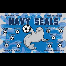 Navy Seals Vinyl Soccer Banner - E-Z Order