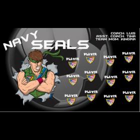 Navy Seals Vinyl Soccer Banner E-Z Order