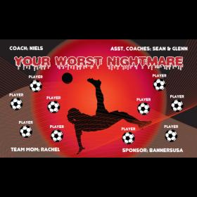Nightmare Your Worst Vinyl Soccer Banner - E-Z Order