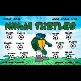 Ninja Turtles Vinyl Soccer Banner - E-Z Order
