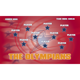 Olympians Fabric Soccer Banner - E-Z Order