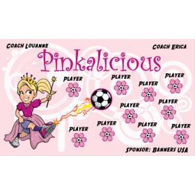 Pinkalicious Vinyl Soccer Banner - E-Z Order