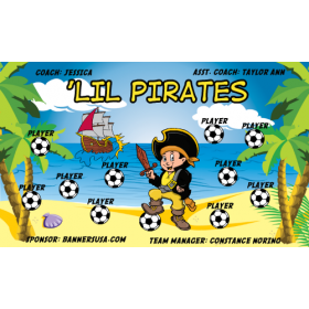 Pirates LiL Vinyl Soccer Banner - E-Z Order