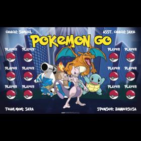 Pokemon Go Vinyl Soccer Banner - E-Z Order