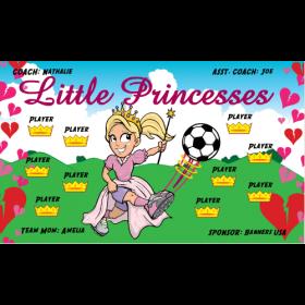 Princesses Little Vinyl Soccer Banner - E-Z Order