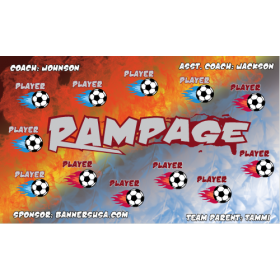 Rampage Fabric Soccer Banner - E-Z Order