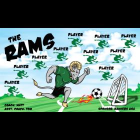 Rams Vinyl Soccer Banner - E-Z Order