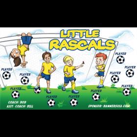 Rascals Little Vinyl Soccer Banner - E-Z Order