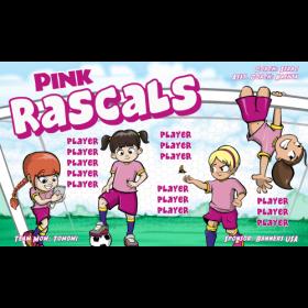 Rascals Pink Vinyl Soccer Banner - E-Z Order