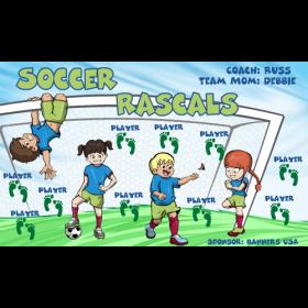 Rascals Soccer Fabric Soccer Banner - E-Z Order