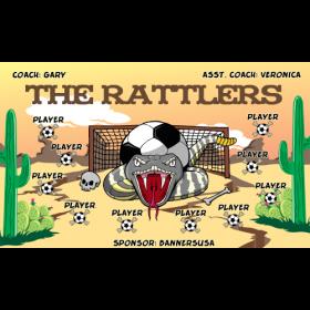 Rattlers Vinyl Soccer Banner E-Z Order